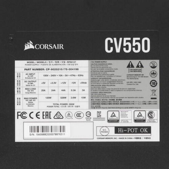 Блок питания Corsair CV550 [CP-9020210-EU]