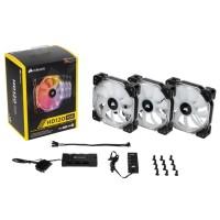 Комплект 3-х вентиляторов Corsair HD120 RGB LED High Performance с контроллером [CO-9050067-WW]