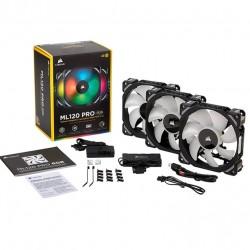 Комплект 3-x вентиляторов Corsair ML120 Pro RGB LED